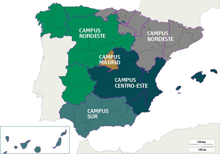 Mapa do campus noroeste